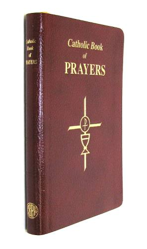 Prayer Book Catholic Book of Prayers Bonded Leather Burgundy