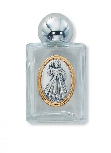 Holy Water Bottle Jesus Divine Mercy 2oz Glass