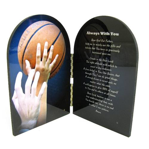 Diptych Plaque Sport Basketball Graphic Laminated