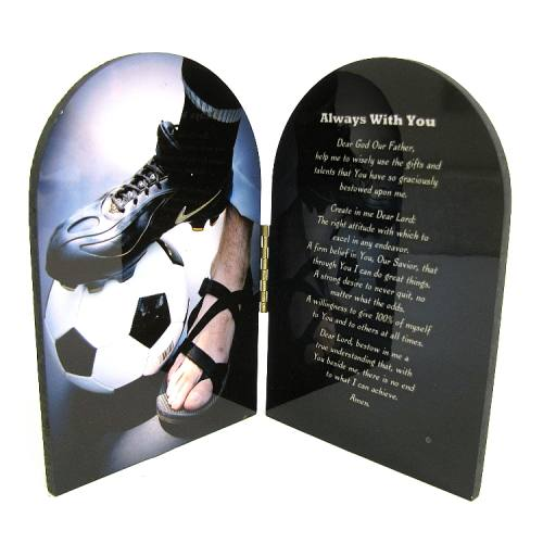 Diptych Plaque Sport Soccer Men Graphic Laminated