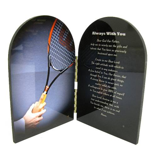 Diptych Plaque Sport Tennis Graphic Laminated
