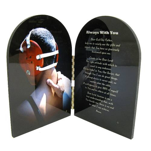Diptych Plaque Sport Wrestling Graphic Laminated