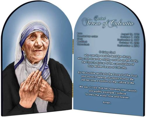 Diptych Plaque St Mother Teresa Graphic Laminated