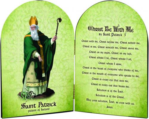 Diptych Plaque St Patrick Graphic Laminated