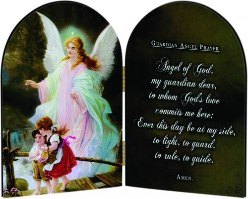 Diptych Plaque Guardian Angel Graphic Laminated