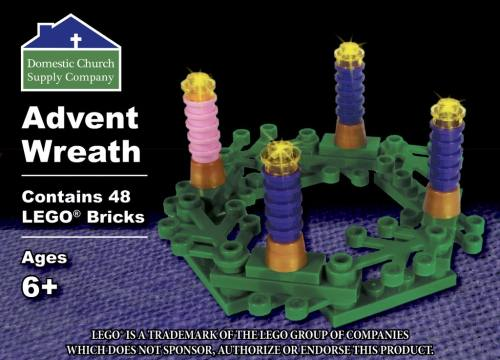 Building Bricks Advent Wreath
