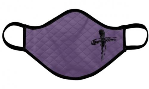 Catholic Face Mask Ash Wednesday Lent Purple Adult Size