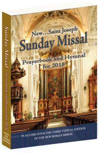St Joseph Sunday Missal Prayerbook and Hymnal for 2018