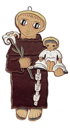 Saint Andrew's Abbey Ceramics St Anthony Padua Plaque