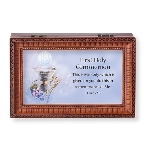 Music Box First Holy Communion Friend in Jesus Brown