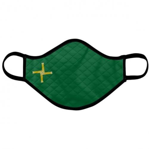 Catholic Face Mask Saint Brigid Green Adult Size