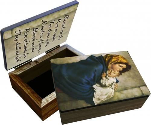 Keepsake Box Mary Madonna Streets Laminated Hardwood