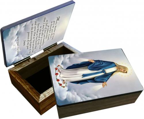 Keepsake Box Mary Our Lady Grace Laminated Hardwood
