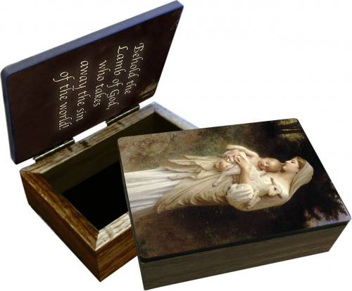Keepsake Box Mary L'Innocence Laminated Hardwood