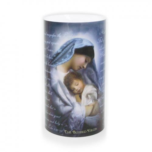 Immaculate Heart and Blessed Virgin Mary 4 x 7 LED Candle