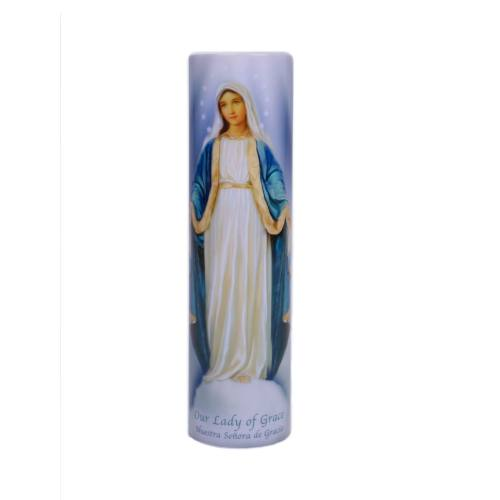 Mary Our Lady of Grace Flameless LED Candle
