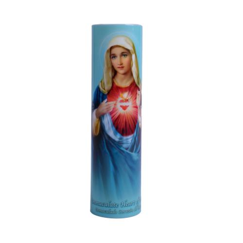 Immaculate Heart of Mary Flameless LED Candle