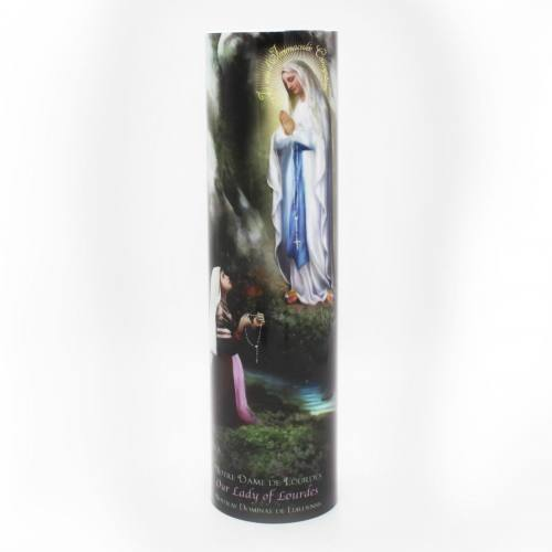 Mary Our Lady of Lourdes Flameless LED Candle
