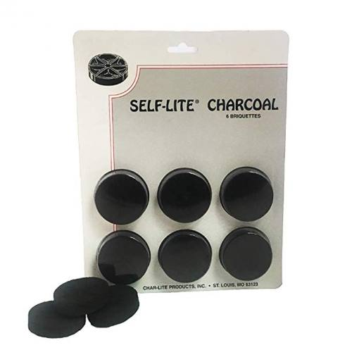 Charcoal Self-Lite Brand Briquettes 6 pack