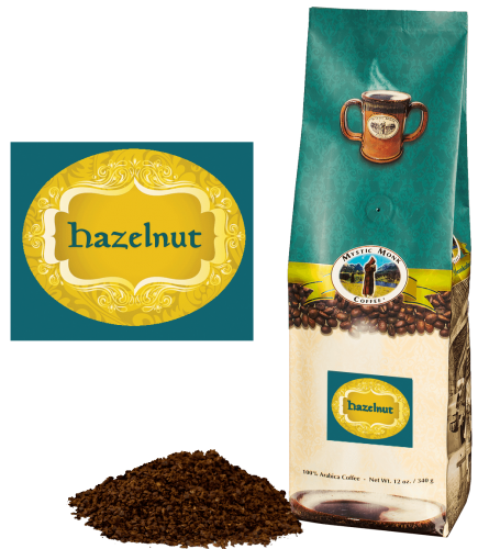 Mystic Monk Coffee Hazelnut Blend Ground Flavored 12 oz.