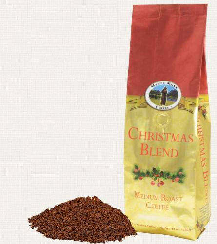 Mystic Monk Coffee Christmas Blend Ground Medium Roast 12 oz.