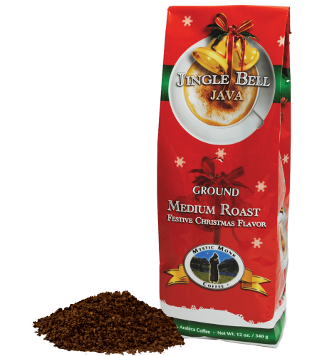 Mystic Monk Coffee Jingle Bell Java Ground Medium Roast 12 oz.