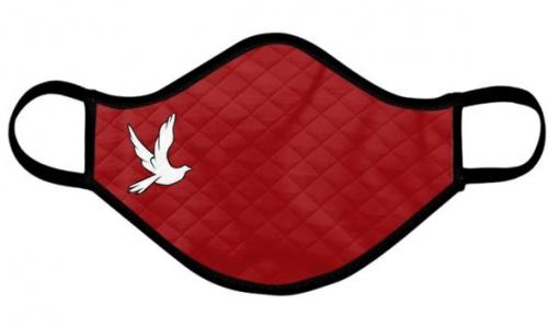 Catholic Face Mask Confirmation Red Dove Adult Size