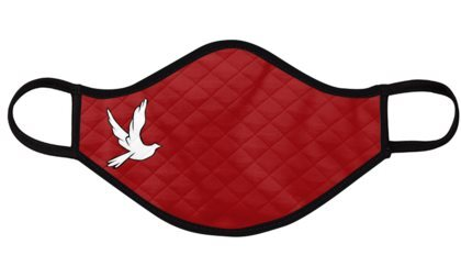 Catholic Face Mask Confirmation Red Dove Kids Large