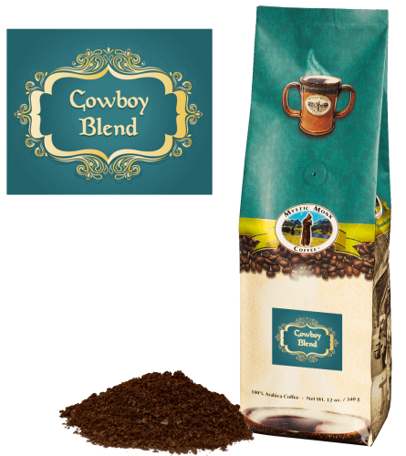 Mystic Monk Coffee Cowboy Blend Ground Dark Roast 12 oz.