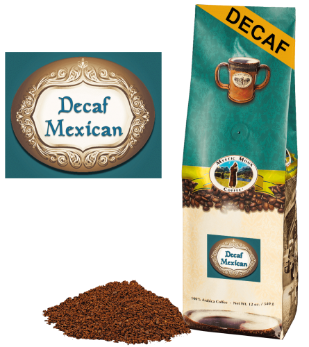 Mystic Monk Coffee DECAF Mexican Blend Ground 12 oz.
