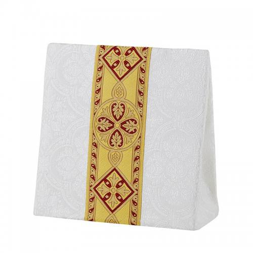 Burse Avignon Collection Ivory with Burgundy & Gold Banding