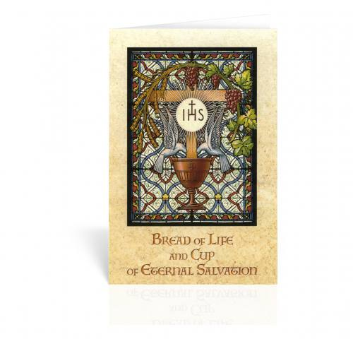 Greeting Card Chalice With Host Stained Glass