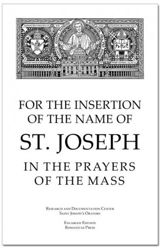 For Insertion of the Name of St. Joseph in Prayers of the Mass