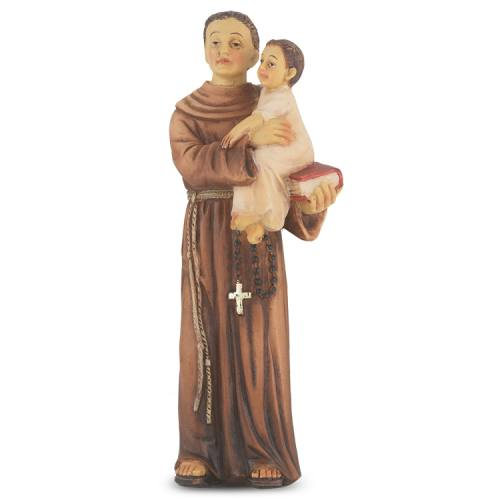 Statue St Anthony Padua 4 inch Resin Painted Boxed