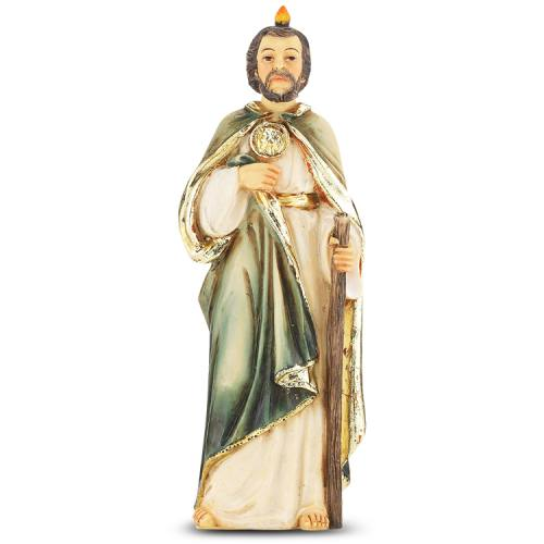 Statue St Jude Thaddeus 4 inch Resin Painted Boxed