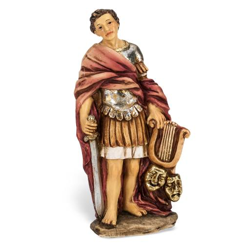 Statue St Genesius Rome 4 inch Resin Painted Boxed