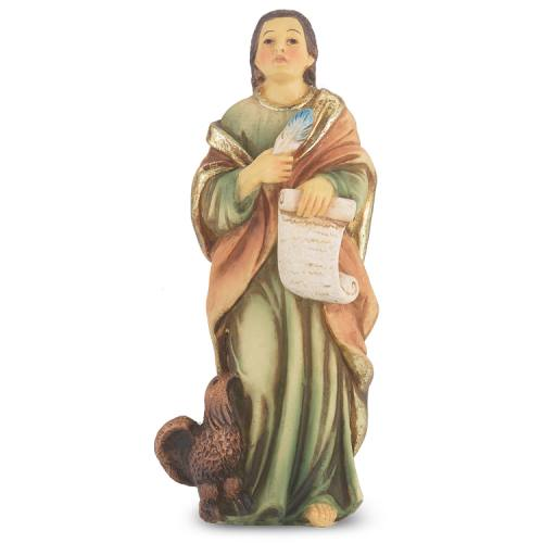 Statue St John Evangelist 4 inch Resin Painted Boxed