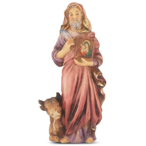 Statue St Luke Evangelist 4 inch Resin Painted Boxed