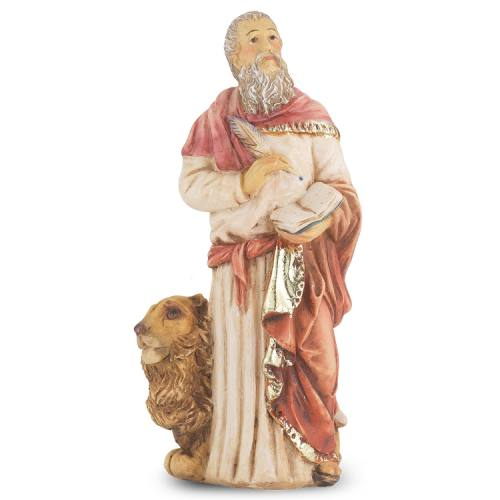 Statue St Mark Evangelist 4 inch Resin Painted Boxed