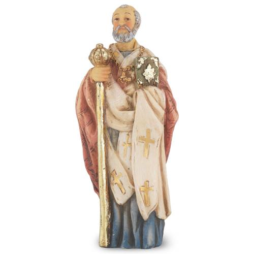 Statue St Nicholas Myra 4 inch Resin Painted Boxed
