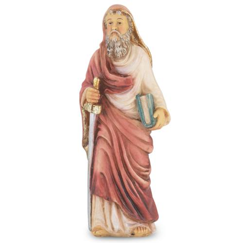 Statue St Paul Apostle 4 inch Resin Painted Boxed