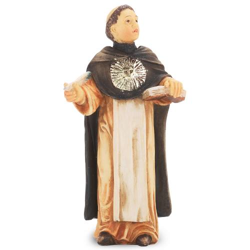 Statue St Thomas Aquinas 4 inch Resin Painted Boxed