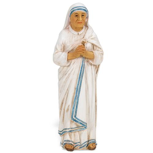 Statue St Mother Teresa Calcutta 4 inch Resin Painted Boxed