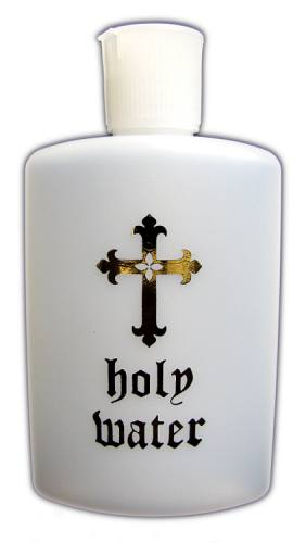Holy Water Bottle 4oz Plastic