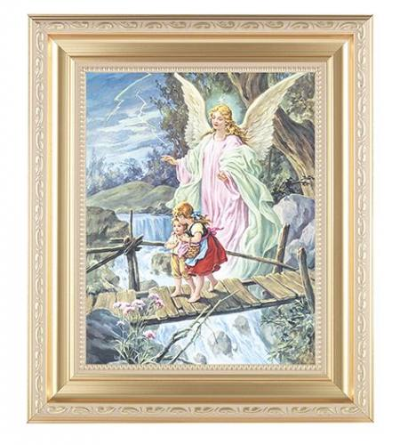 Print Guardian Angel 8 x 10 inch Gold Framed