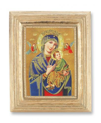 Print Mary Our Lady Perpetual Help 2 x 3 inch Gold Framed