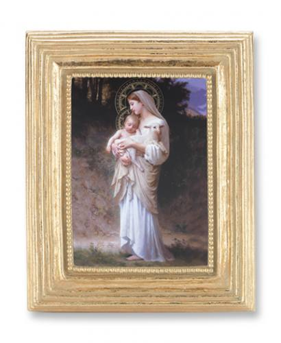 Print Mary L'Innocence Madonna & Child 2 x 3 inch Gold Framed