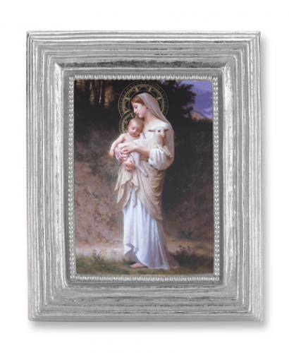 Print Mary L'Innocence Madonna & Child 2 x 3 inch Silver Framed