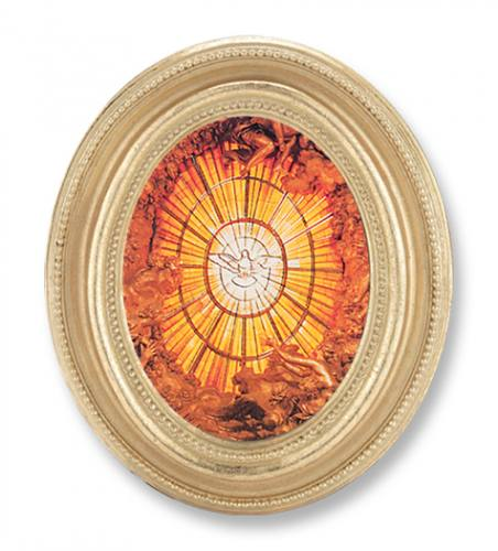 Print Holy Spirit Dove Bernini 2.25 x 3 inch Gold Framed Round
