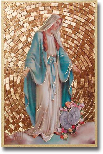 Plaque Mary Our Lady Grace 4 x 6 inch Mosaic